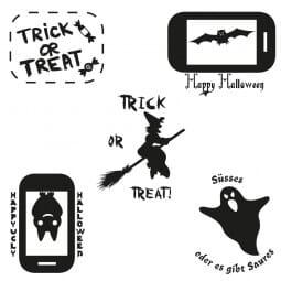 Halloween - Holzstempel (40x30 mm)
