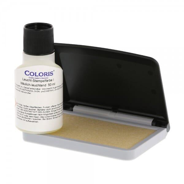 UV-Farben Set (Kissen und Coloris UV Stempelfarbe)