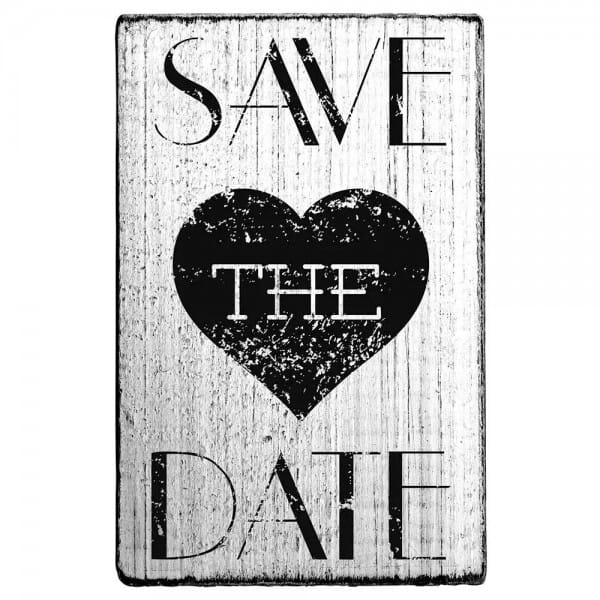 "Vintage Stempel ""Save the date"" Herz"