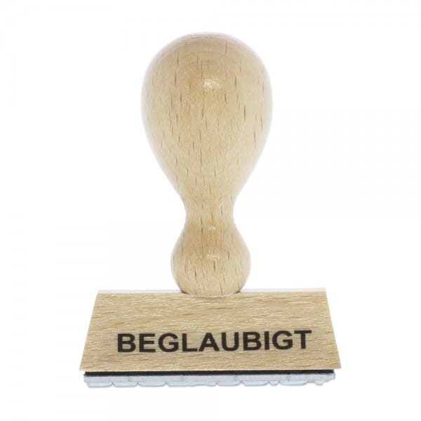 Holzstempel BEGLAUBIGT (50x10 mm - 1 Zeile)