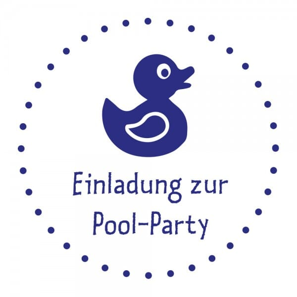 Feierlichkeiten Holzstempel - Pool Party (Ø 40 mm)
