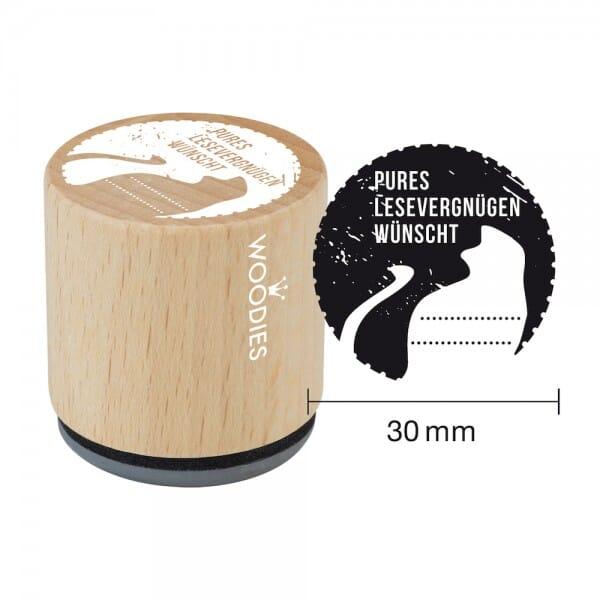 Woodies Stempel - Pures Lesevergnügen wünscht W08004