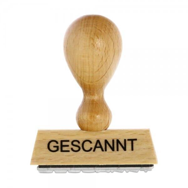 Holzstempel GESCANNT (50x10 mm - 1 Zeile)