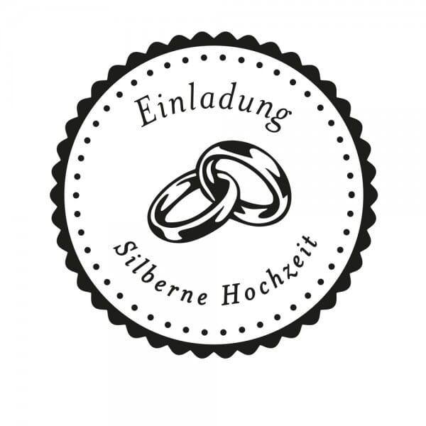 Hochzeitsstempel - Einladung - Ringe (Ø 50 mm)