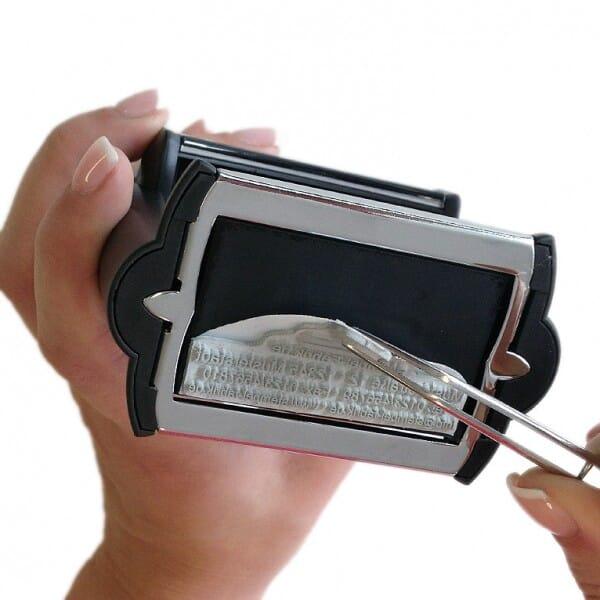 Textplatte für Trodat Professional 5211 (85x55 mm - 12 Zeilen)
