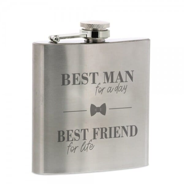"""Flachmann """"BEST MAN for a day - BEST FRIEND for life"""""""