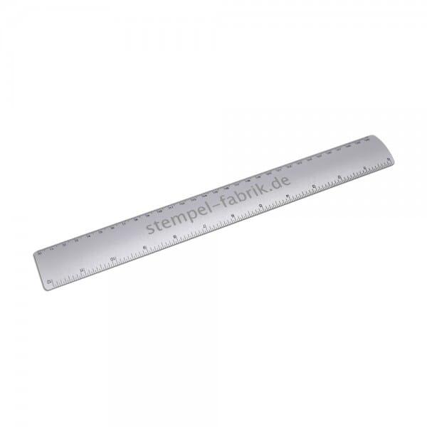 Individuell gravierbares Aluminum Lineal (Gravurmaß 13x1,5 cm)