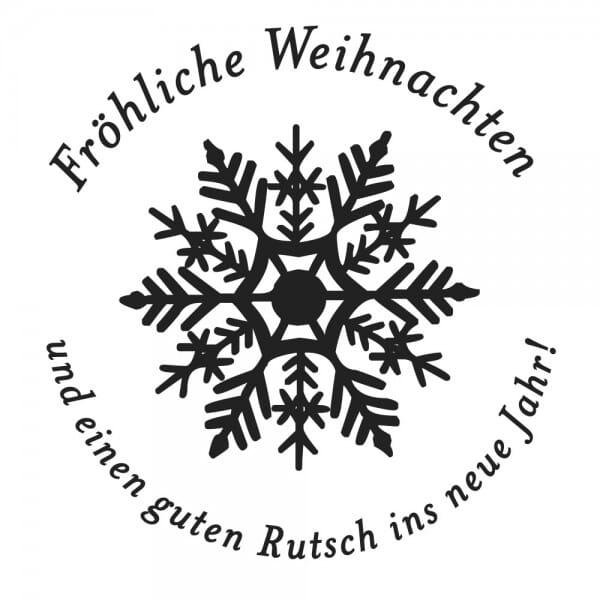 Weihnachten Holzstempel - Schneeflocke (Ø 40 mm)