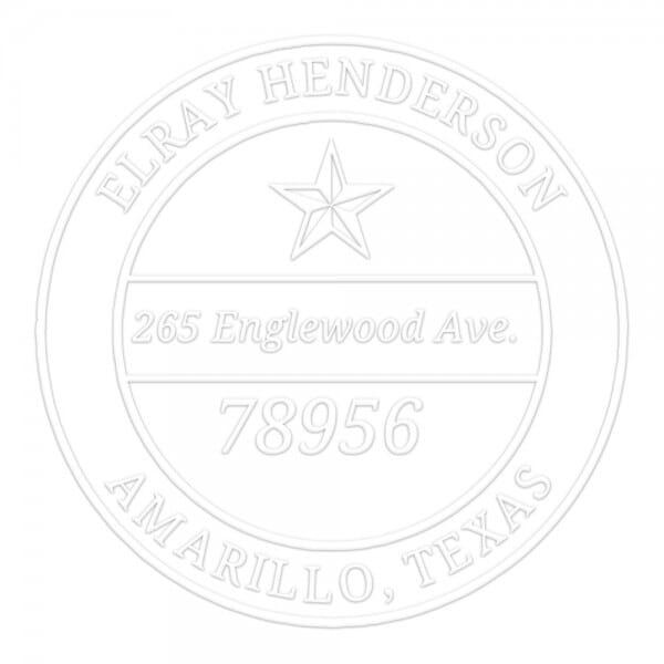 Monogramm-Prägezange 51 mm rund - Stern