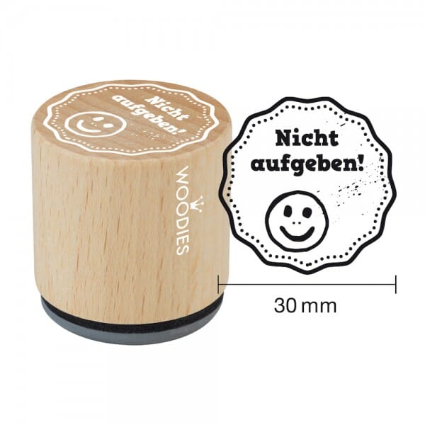 Woodies Stempel - Nicht aufgeben! bei Stempel-Fabrik