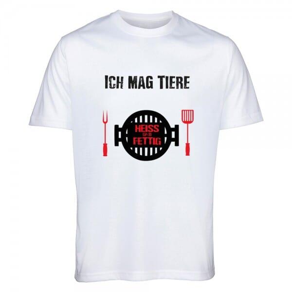 """T- Shirt """"ICH MAG TIERE - HEIß UND FETTIG"""""""