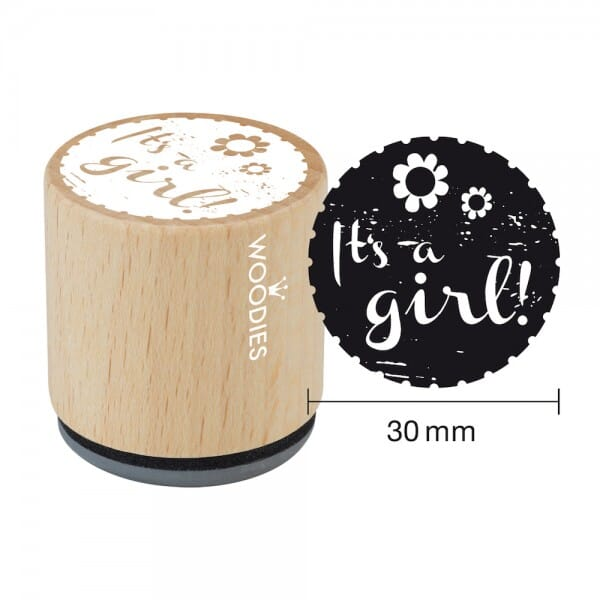 Woodies Stempel - It's a girl - Blume W06003
