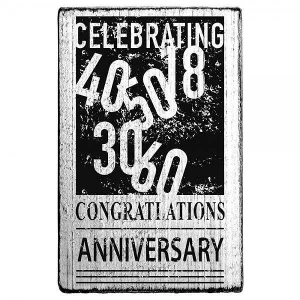 """Vintage Stempel """"Celebrating"""""""