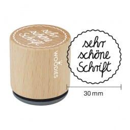 Woodies Stempel - Sehr schöne Schrift