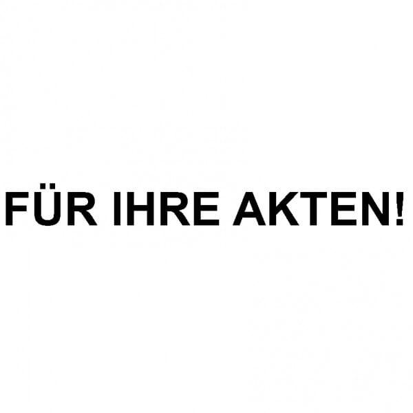 """Dormy Imprint 11 Lagertext """"Für Ihre Akten"""" (37x14 mm - 1 Zeile)"""