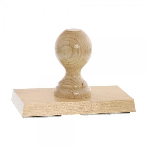 Holzstempel (140x80 mm - 19 Zeilen)