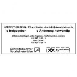 Holzstempel (190x80 mm - 19 Zeilen)