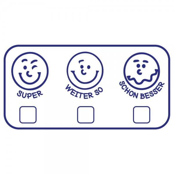 Pädagogik Holzstempel - Smileys (60x30 mm)