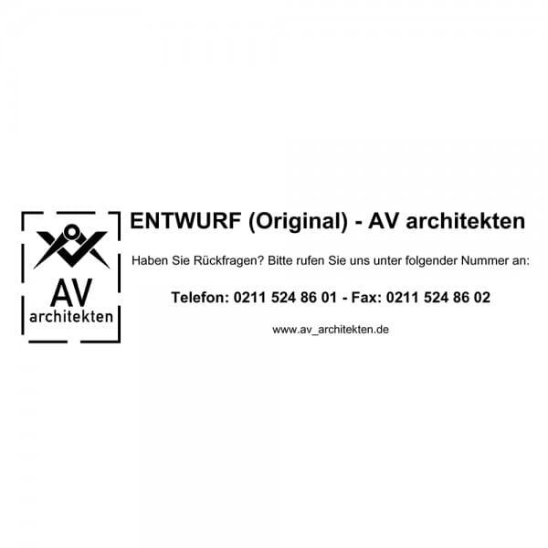 Holzstempel (150x40 mm - 8 Zeilen)