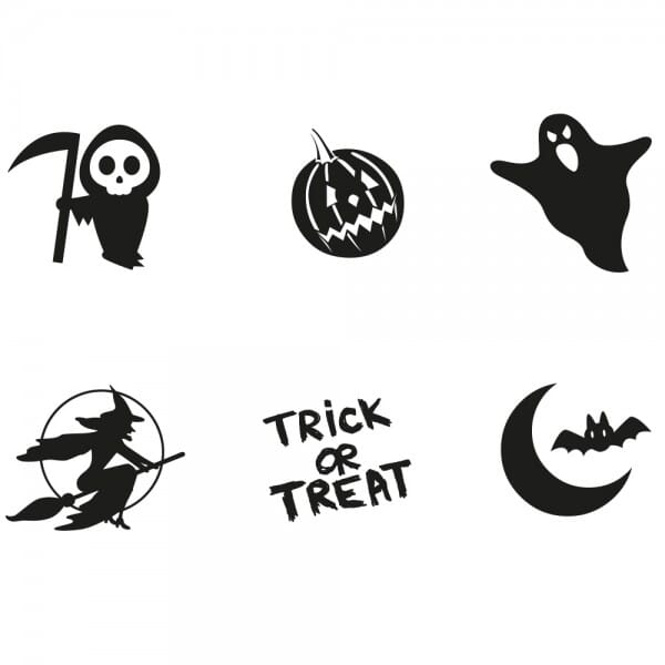 Halloween - Holzstempel Set (Ø 20 mm)