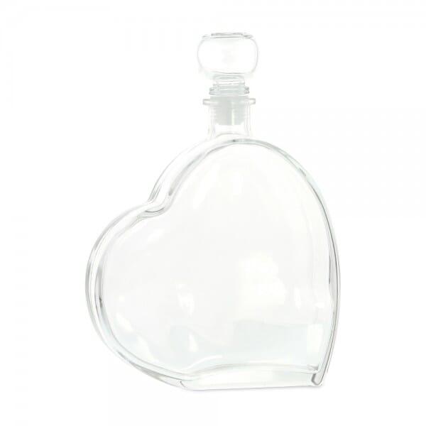 SALE - Herzflasche mit Glasgriffkorken (80x80 mm)