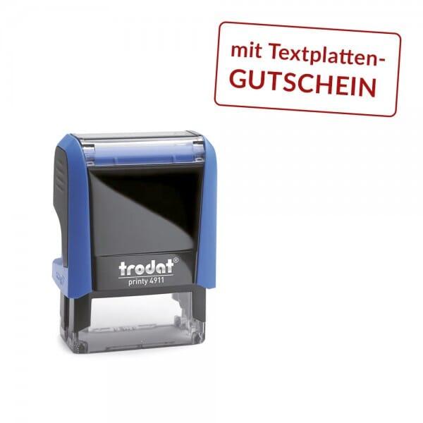 Trodat Printy 4911 mit Textplattengutschein (37x14 mm - 4 Zeilen)