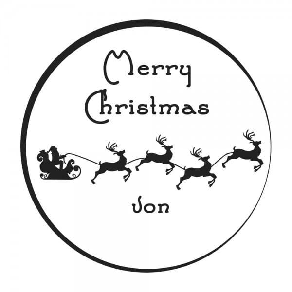 Weihnachten Holzstempel - Rentiere (Ø 40 mm)
