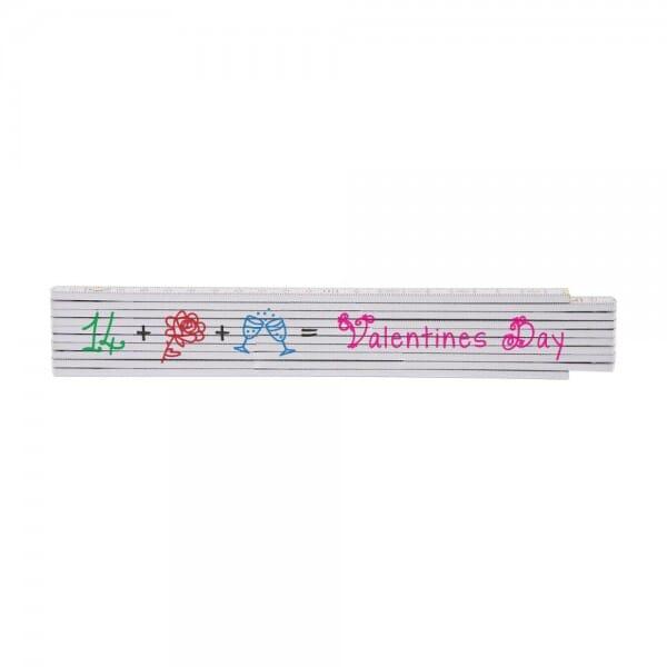 "Zollstock ""Valentinstag"" (235x35 mm)"