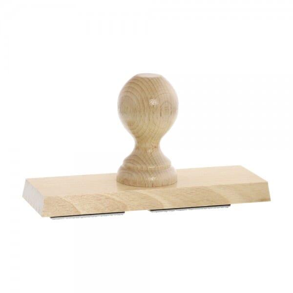 Holzstempel / Wiegestempel (180x60 mm - 12 Zeilen)