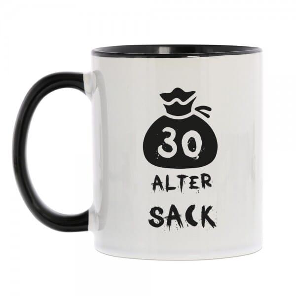 "Keramiktasse zum 30. Geburtstag ""Alter Sack"""