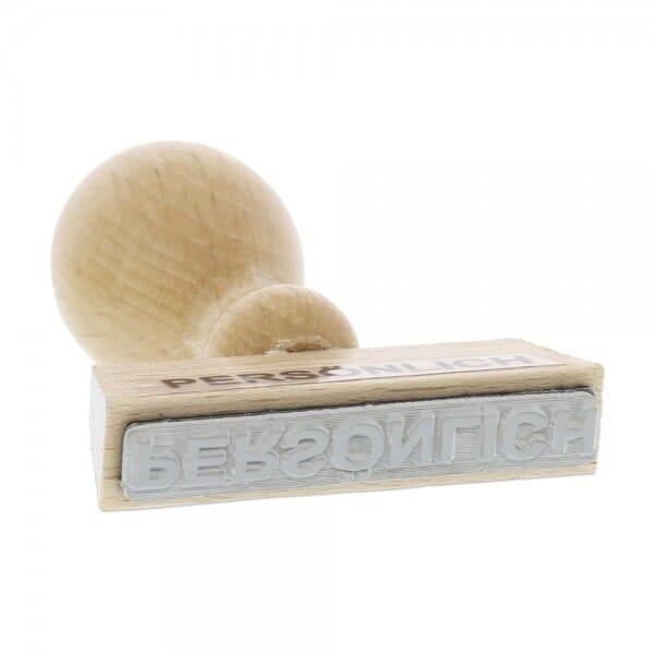 Holzstempel PERSÖNLICH (50x10 mm - 1 Zeile)