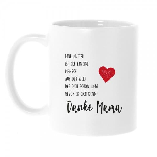 """Keramiktasse """"Danke Mama"""""""