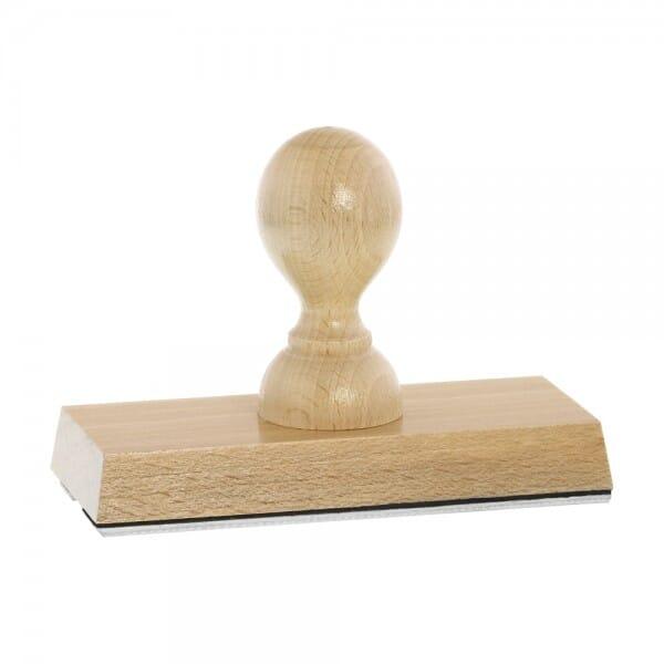 Holzstempel (120x50 mm - 10 Zeilen)