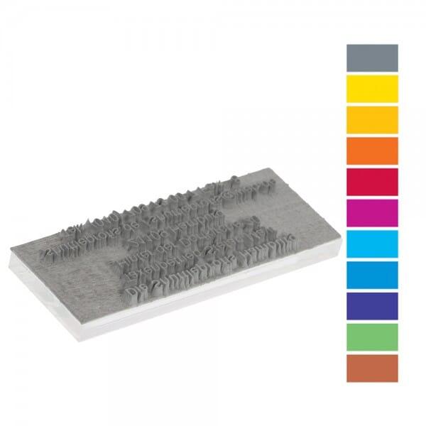 Textplatte für Trodat Printy PREMIUM 46045 (ø 45 mm - 8 Zeilen)