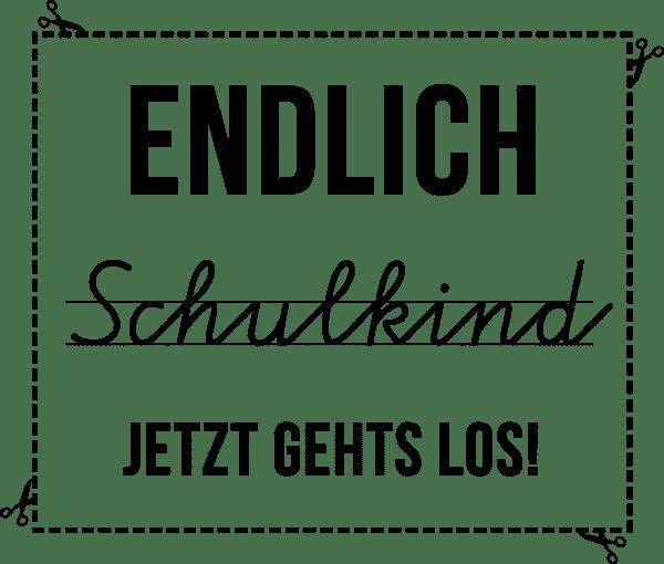 Schülerstempel Holzstempel - Endlich Schulkind (60x50mm)