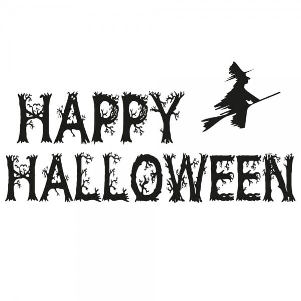Halloween Holzstempel - Hexe (60x30 mm)