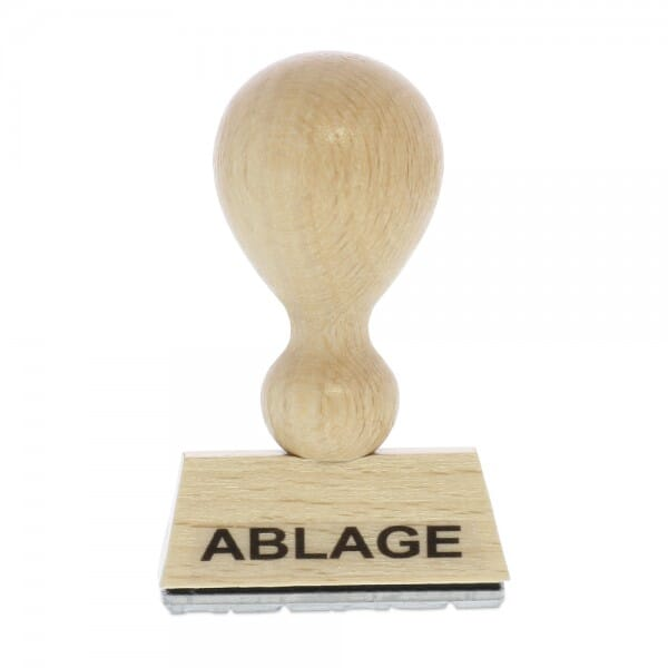 Holzstempel ABLAGE (40x10 mm - 1 Zeile)