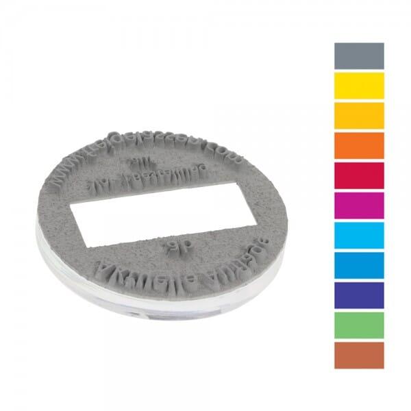 Textplatte für Trodat Printy PREMIUM 46145 (Ø 45 mm - 4 Zeilen) bei Stempel-Fabrik
