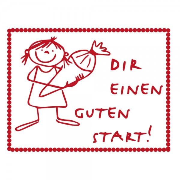 Pädagogik Holzstempel - Guter Start - Mädchen (40x30 mm)