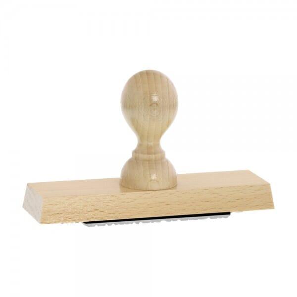 Holzstempel (140x40 mm - 8 Zeilen)