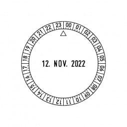 Colop Platten-Datumstempel P 700 UZ 24h (ø50 mm)