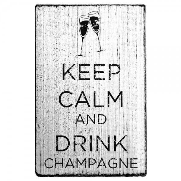 "Vintage Stempel ""Keep calm and drink champagne"""