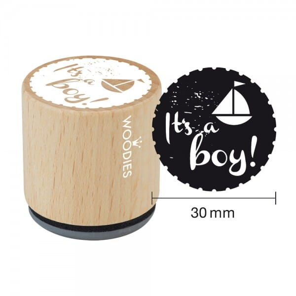 Woodies Stempel - It's a boy - Schiff W06006