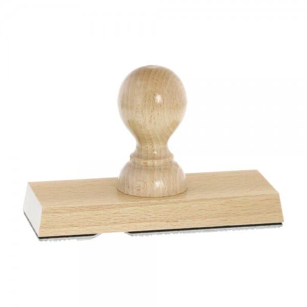 Holzstempel (130x50 mm - 10 Zeilen)