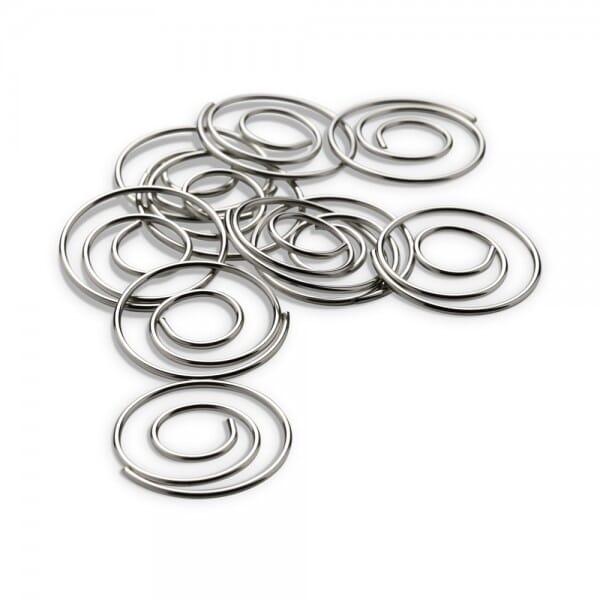 NIO Klammern Spirale silber (10 Stück)