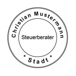 Siegelstempel Steuerberater (ø45 mm)