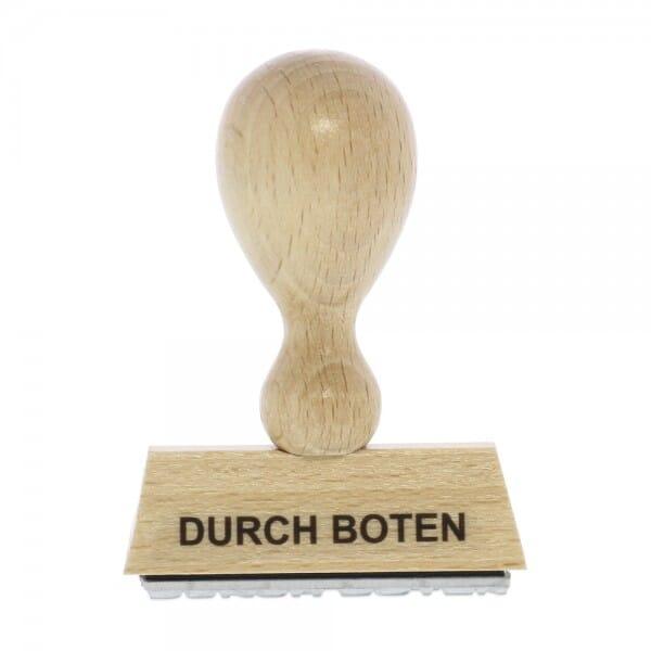 Holzstempel DURCH BOTEN (50x10 mm - 1 Zeile)