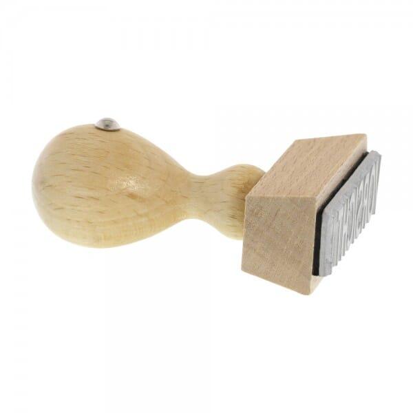 Holzstempel (50x20 mm - 5 Zeilen)