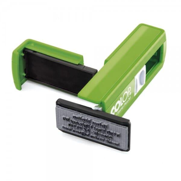 Taucherstempel - Padi Colop Pocket Stamp Plus 20 (38x14 mm - 4 Zeilen)