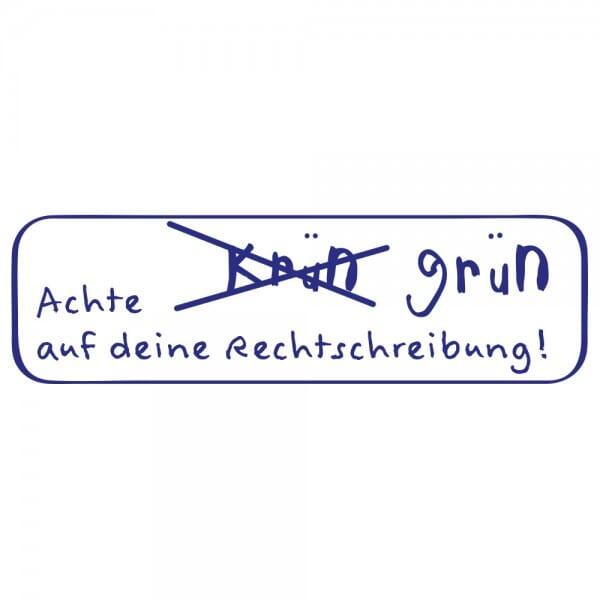 Pädagogik Holzstempel - Rechtschreibung (70x20 mm)